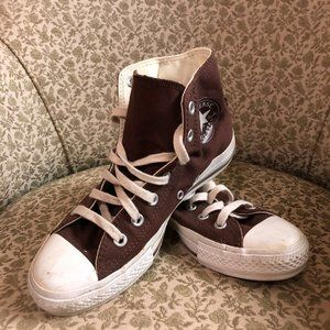 Brown Converse All Star Chuck Taylors sz M 5 W 7